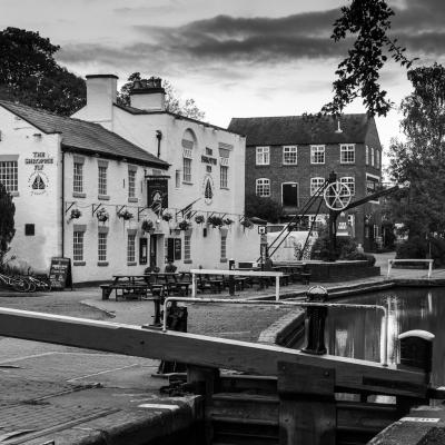 Audlem Locks, by Iain Miller