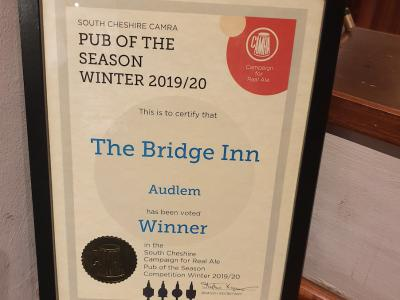 Bridge Inn Camra Award