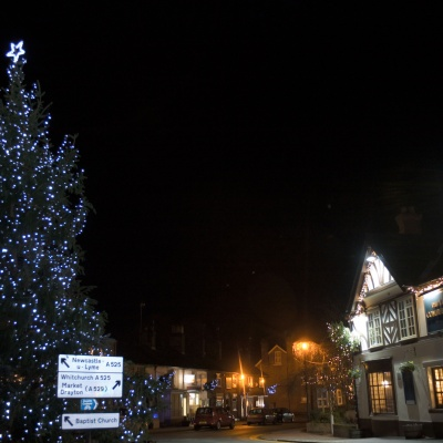 Christmas Tree in Audlem Square