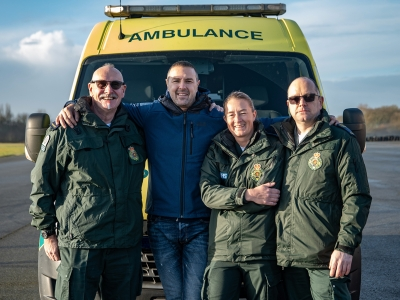 Top Gear Ambulance team